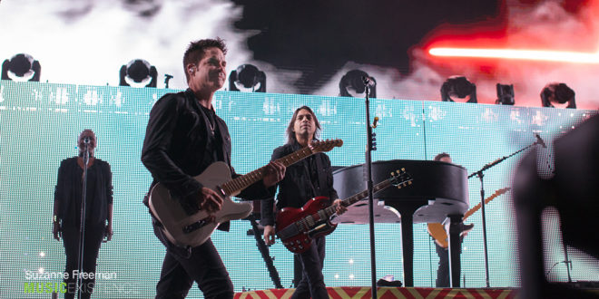 Train takes the stage