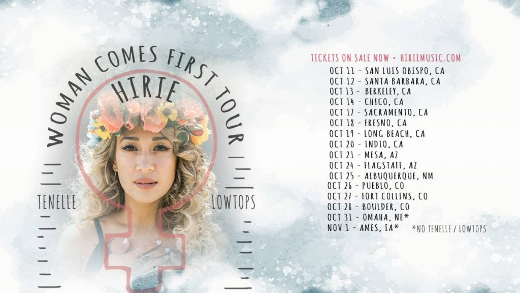 Hirie Woman Comes First Tour